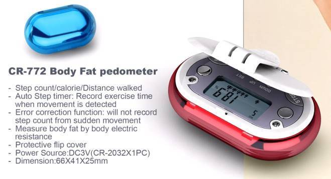 China Body Fat Analyzer Pedometer