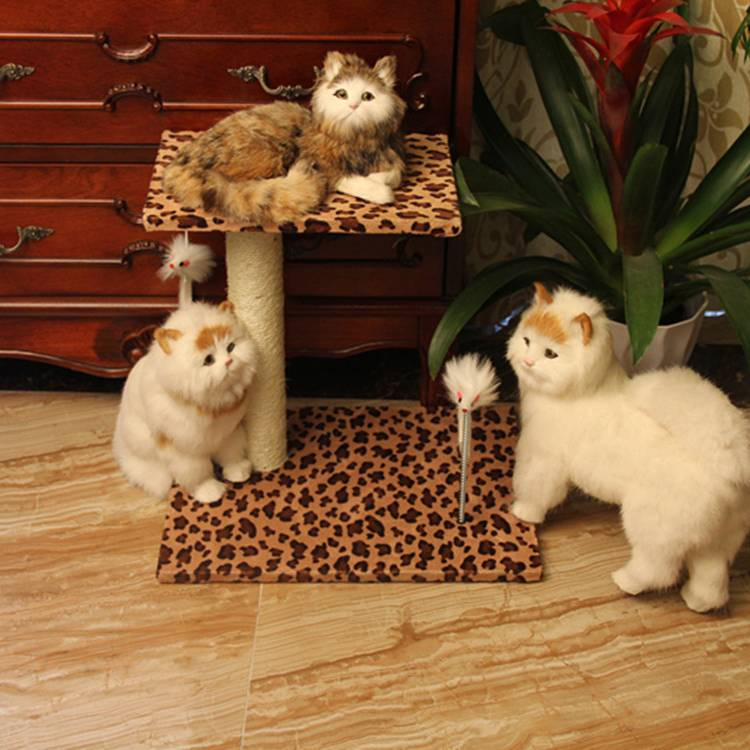 Simple cat tree with toys/cat scratch post/cat toy