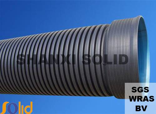 HDPE double wall corrugated pipe for sewage