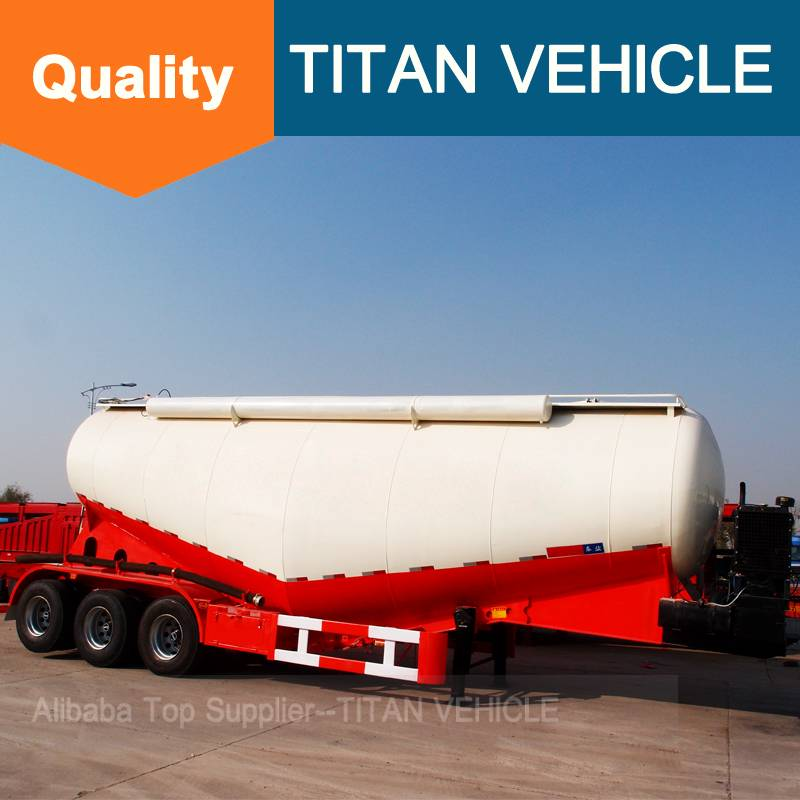 Titan Vehicle bulk cement transportation truck Stainless Bulk Trailer