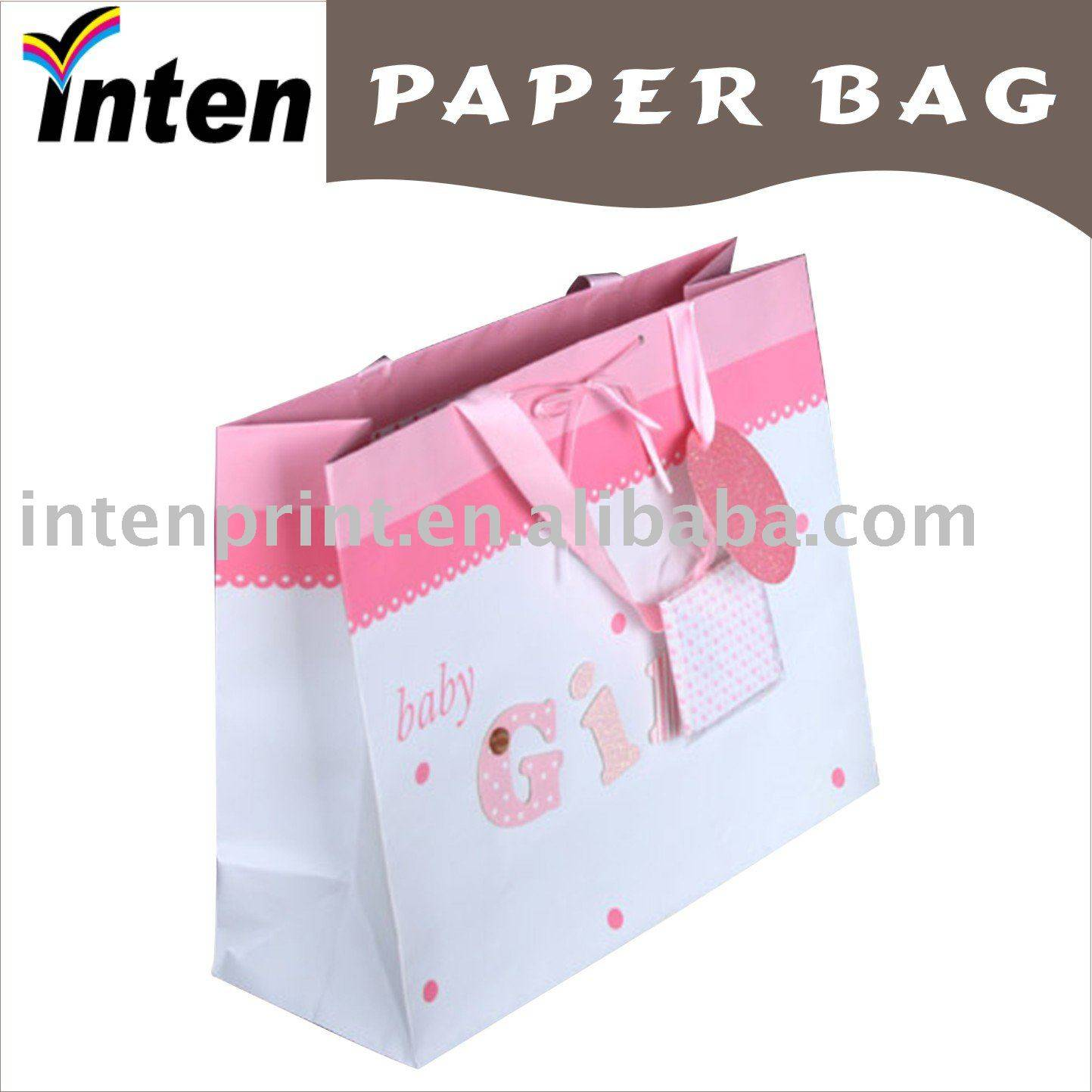 Wrapping Fashionable Gift Paper Bag