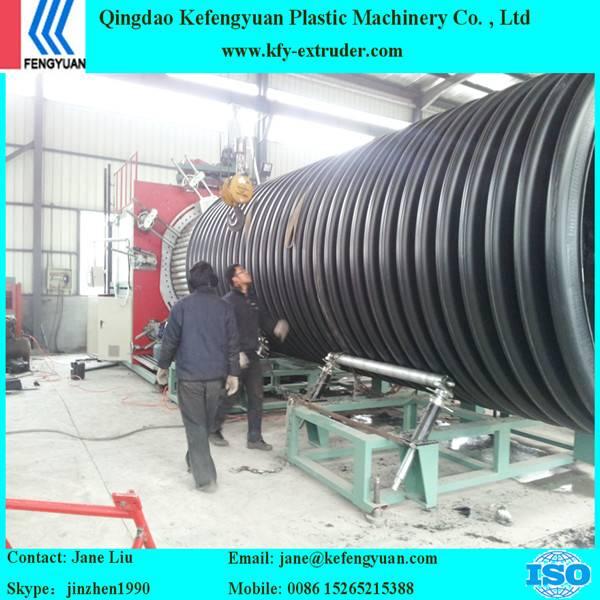 HDPE Inner rib enhanced spiral drainge pipe making machine