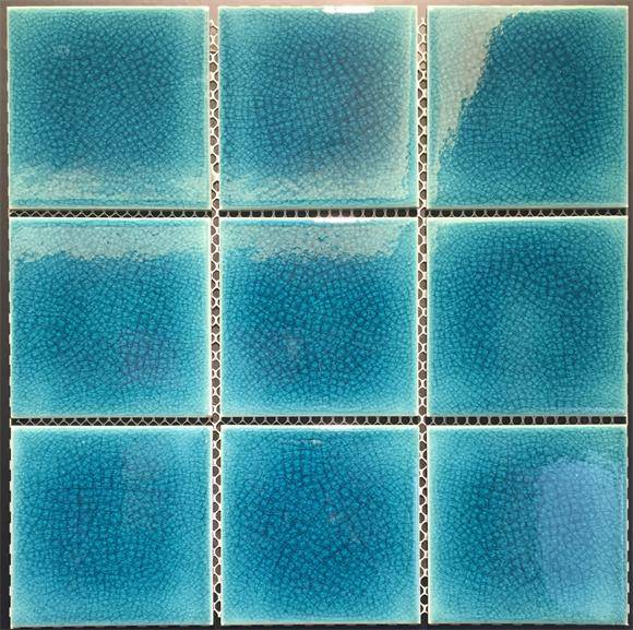 3'x3' Cracklzed glazed swimming pool tiles