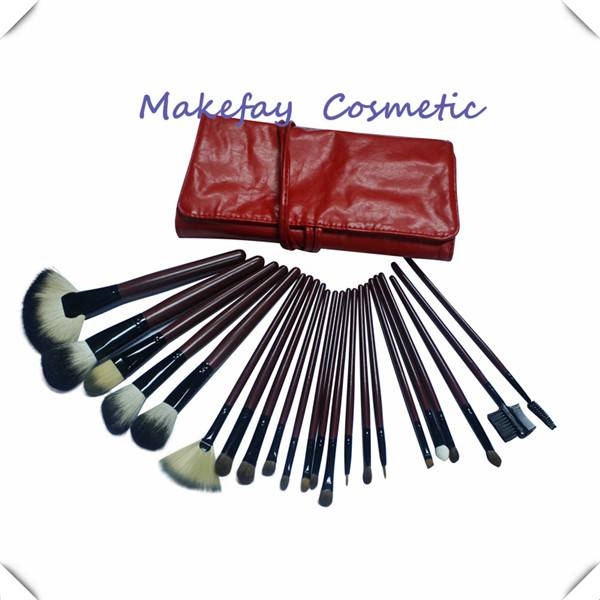 2014 best Professional factory direct high quality Beauty girls 22pcs Cosmetic Makeup Brush Set/pou