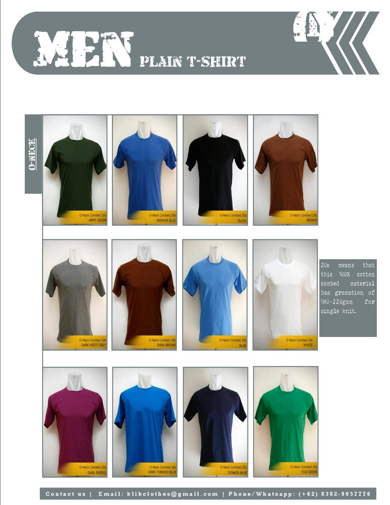 High Quality Plain T-Shirt