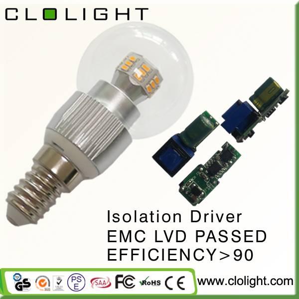 LED lamp 3W LED bulb light CRI 90 3 years warranty
