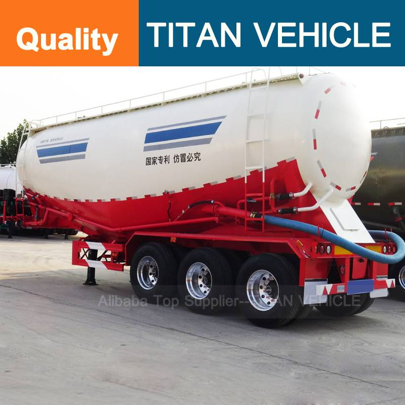 Titan Vehicle trucks and trailers 3 axle bulk cement tanker semi trailer