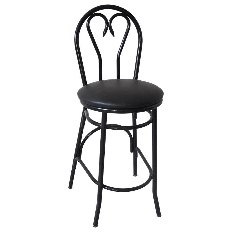 Heart Back Metal Barstool (ALL-106BS)