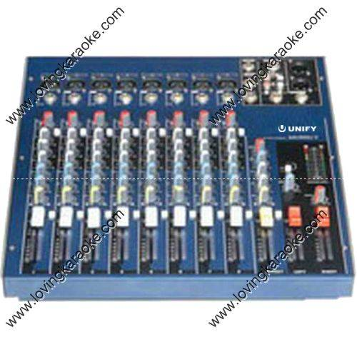 Unify WKS-MG800 Professional 8 Channel/16 Effect/60 Trip Fader DJ/KJ Mixer Console