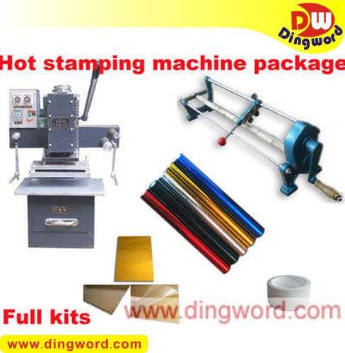 hot foil stamper,Pheumatic hot foil stamping business start up full kits CT-66
