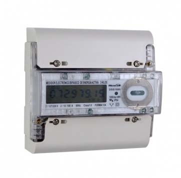 Two Phase Three Wires DIN Type Postpaid Energy Meter