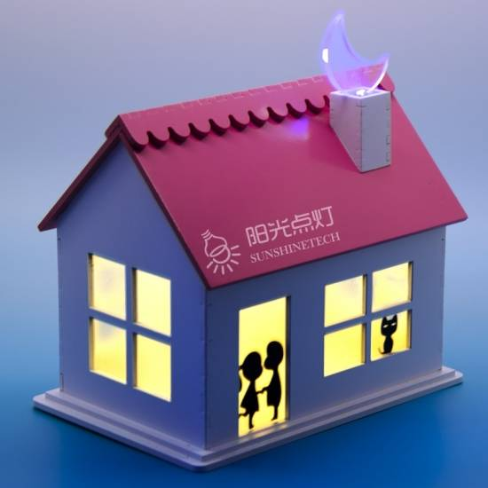 Solar romantic cabin house