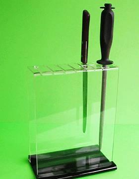 acrylic knife holder