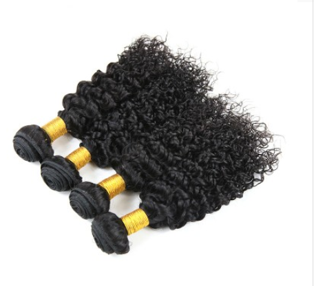 [8A]4 Bundles Malaysian Hair Weave Water Wave with 360 Lace frontal