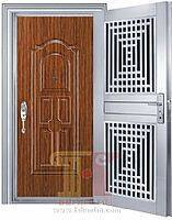 Apartment safety stainless steel entry doors