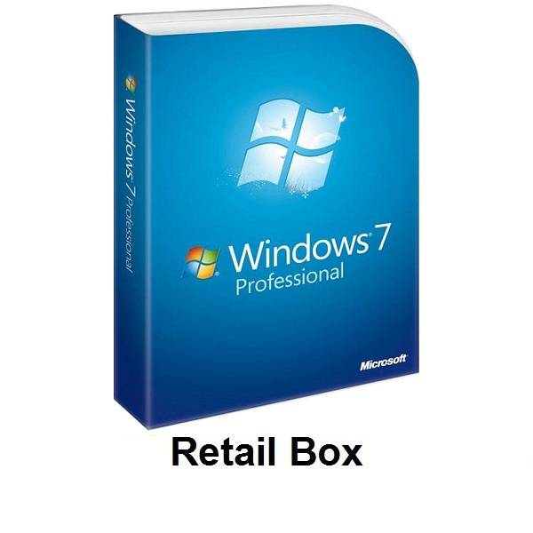 Microsoft Windows 7 Professional Retail Box