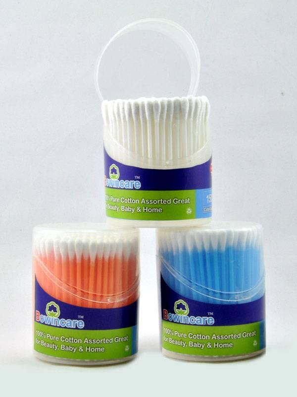 New Practical 150pcs 8-10cm Cotton Swabs Applicator Q-tip Colorful Plastic Handle