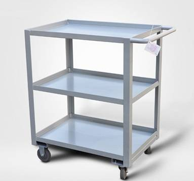 3-layers low handle metal material moving trolley RCA-0317