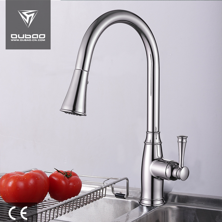 Pull Down Kitchen Mixer Antique Bibcock Long Neck Stout Basin Faucet