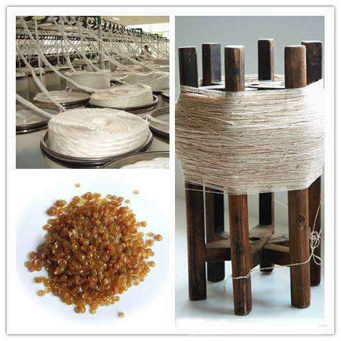 Animal bone glue for textile