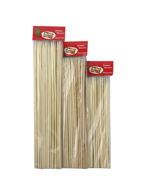 High Quality Thin Bamboo Skewers for BBQ, Skewer, Shish Kabobs, Appetizers