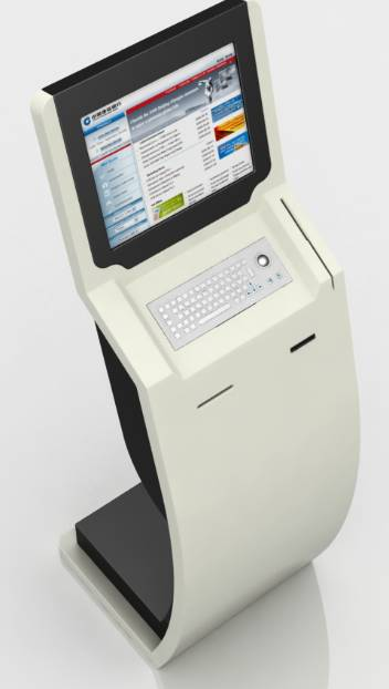 17'' and 32'' dual screen payment kiosk with 80mm thermal printer