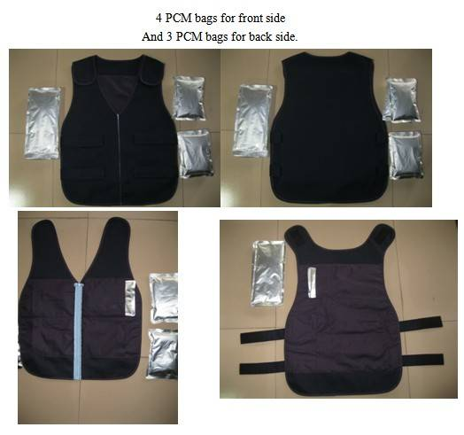 PCM summer reusable non-toxic cool vest