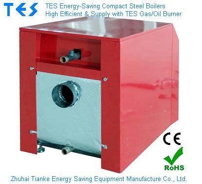 Hot Water Boiler Compact Steel Boiler Gas Oil fired burner CE RoHS