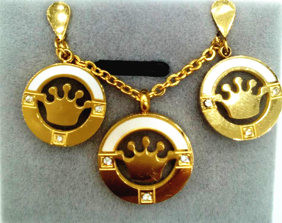 paparazzi jewelry reviews beautiful crown pendant hollowed out best electroplating necklace set