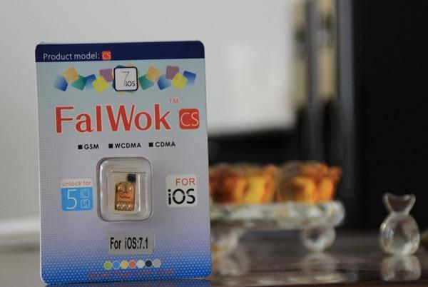 Falwok CS unlock sim card IOS7.1 for iphone 5S 5C 5 ATT T-M SB TECELL