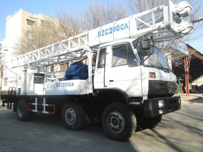 BZC200CA truck mounted rotary drilling rig