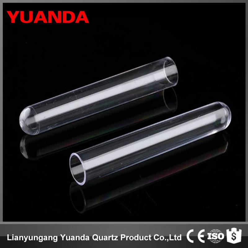 YUANDA quartz glass test tube customer made