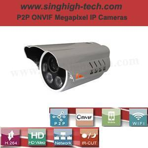 P2p Onvif 960p 1.3MP Waterproof IR IP Camera (NS6268)