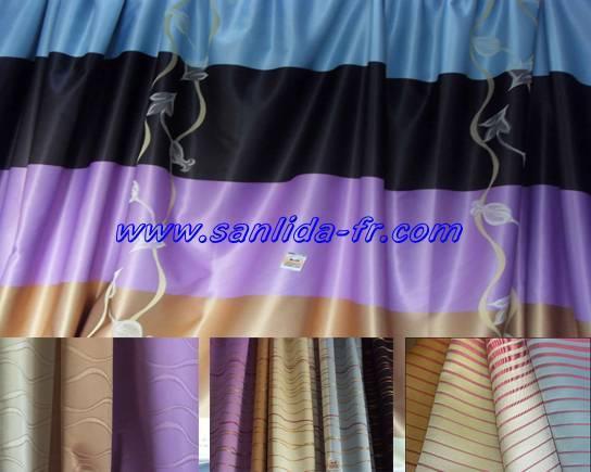 100% polyester fire retardant fabric for jacquard drapery curtain