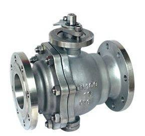 Casting trunnion mounted/fixed flanged ball valve