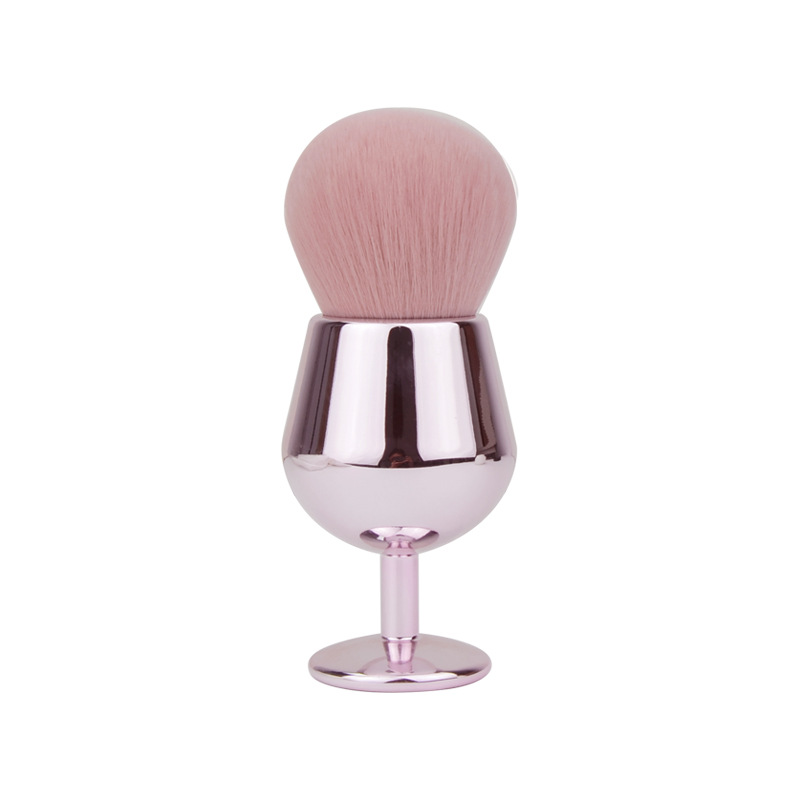Wine Cup Powder Brush, OEM Private Label Makeup Brush Cosmetics Highlighter Loose Powder Brushes