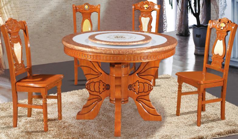 301# zhongyuan latest oak dinning furniture dinning table