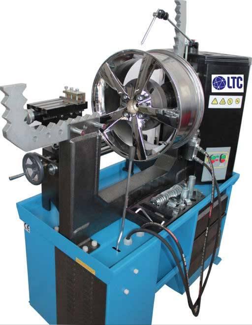 Hydraulic Rim Straightening Machine with Lathe