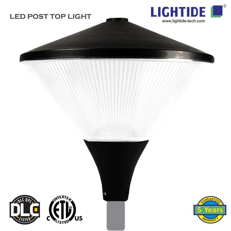 LED Street Post Top Lights PTA50, ETL/cETL/CE/ROHS, 50W, 5 Yrs Warranty