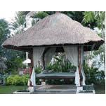 Bangkirai Wood Gazebo with Thatces Roof