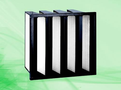 Medium efficiency combined filter, air filter, air purifier, V type filter