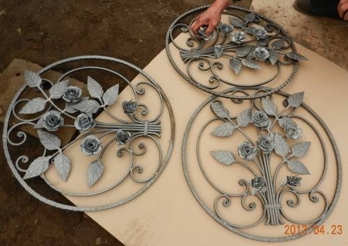 Wrought Iron/Forged Steel rosettes