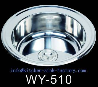South america hot sale round bowl stainless steel kitchen sink