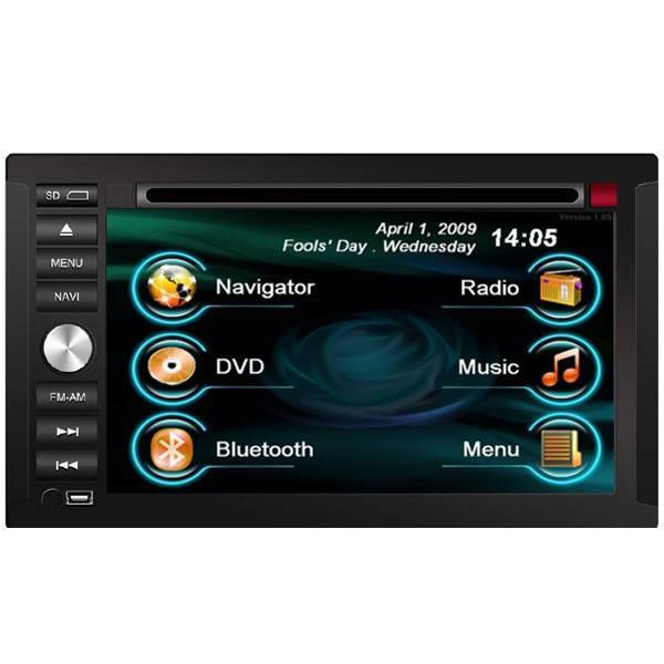 2 Din Double DIN Navigation System Car DVD Player Bluetooth
