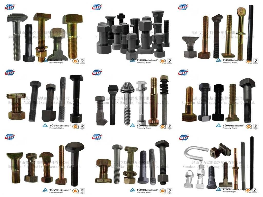 Rail bolts,railway bolts,track bolts