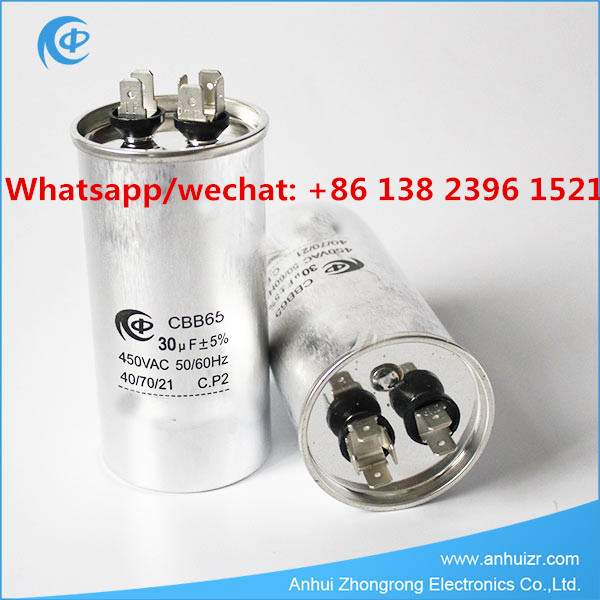 Round 30uF 450VAC CBB65 Capacitor