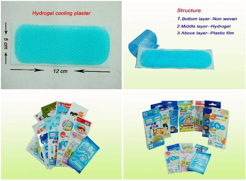 Fever cooling patch/adhesive/plaster