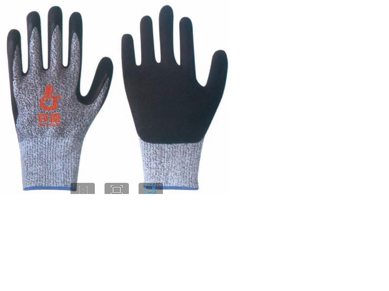 Cut Resistance glove Nitrile coating.