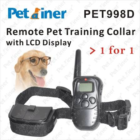 Remote Pet Training Collar with LCD Display