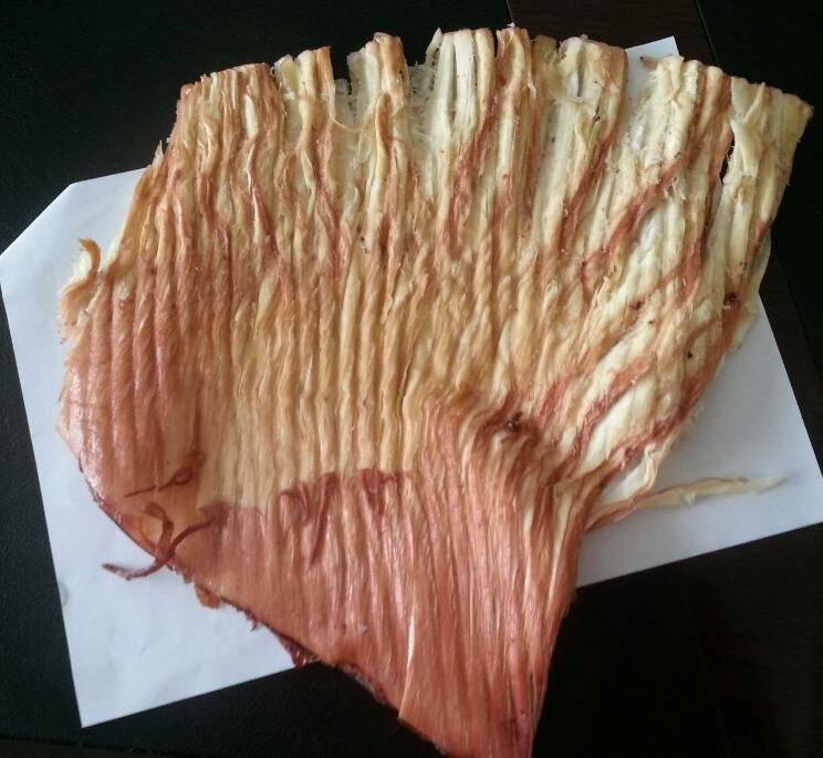 Dried squid wings fillet
